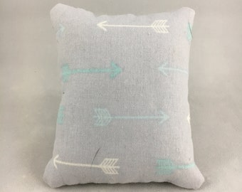 Gray with Arrows Display Pillow, Small