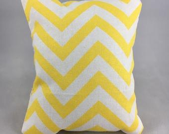Yellow Chevron Display Pillow, Small
