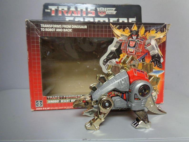 TRANSFORMERS, SNARL Desert Warrior,Original G1 1985  Autobot,Dinobot,Diaclone Takara,Die Cast Plastic transforming  Stegosaurus,Hasbro,