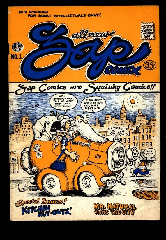 vintage 1970 zap magazine Robert Crumb Keep on Truckin famous artist of