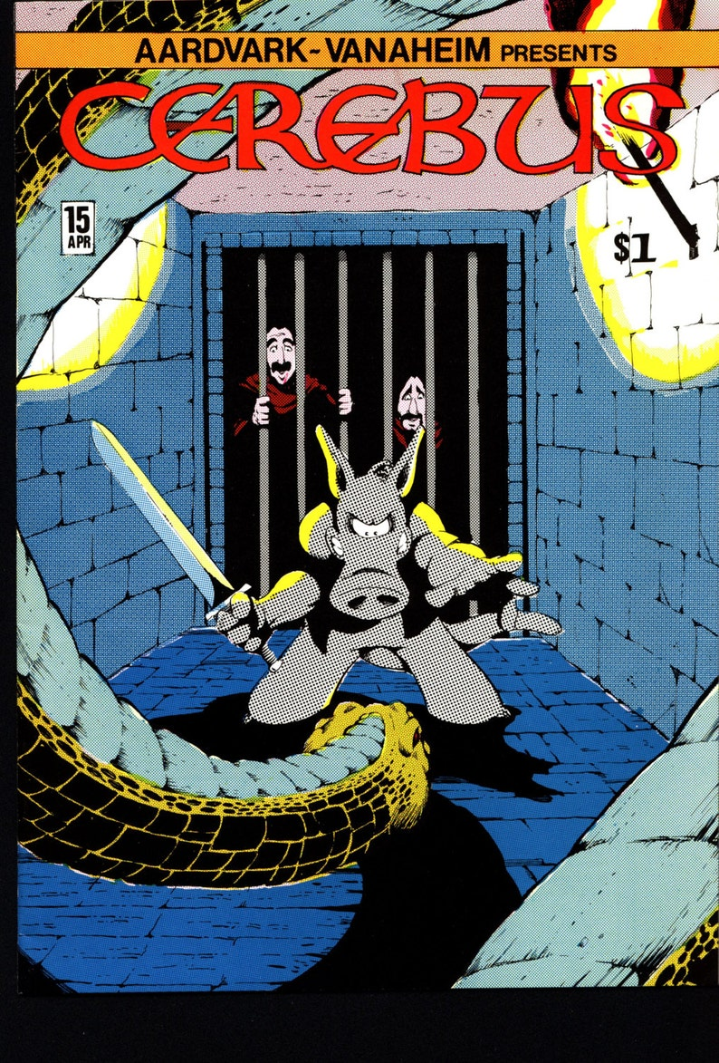 CEREBUS the Aardvark #15 DAVE SIM Aardvark-Vanaheim Fan Favorite Cult Self  Published Alternative Conan the Barbarian Parody Comic Book