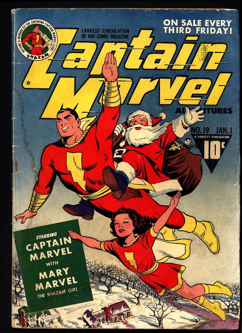 shazamfawcett comics golden age captain marvel adventures | etsy