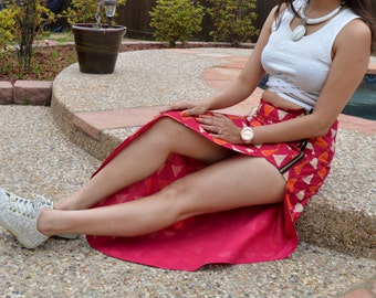 Cotton Front Slit Skirt