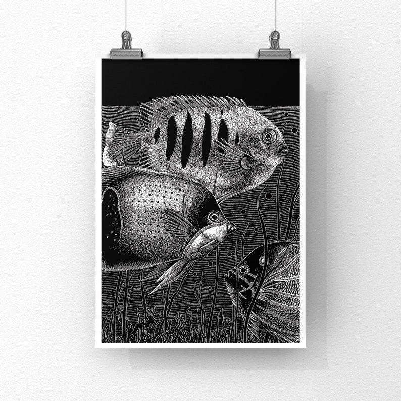 REEF FISH  8x10 Art Print image 0