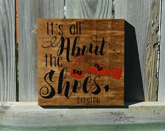 Shoe Lovers Gift, It's all about the shoes, Girlfriend Gift, Friendship Gift, Going Away Gift, Gift for friend