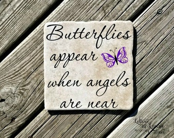In Loving Memory Gift, Butterflys appear when angels are near, Memorial gift, Loss of a Loved One, Remembrance, Bereavement, Sympathy Gift