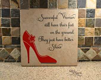 Shoe Lovers Gift, Successful women still have their feet on the ground, Girlfriend Gift, Friendship Gift, Going Away Gift, Gift for friend