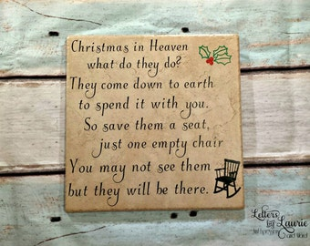 Christmas in Heaven, In Loving Memory Gift, In loving memory sign, Memorial gift, Loss of a loved one