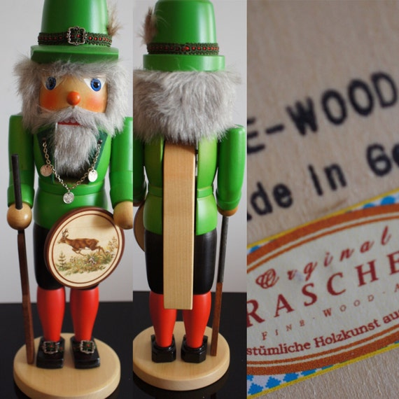 Vintage Rascher's Hunter deer Boy Nutcracker German 1950s