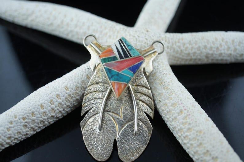 448461ada0d6 Americanos indios 925 colgante sterling arte Navajo G Howe
