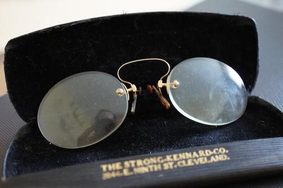 75de0c935c Antique 14K gold rim whire frame eyeglasses by The Strong