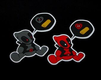 Lil D'Pool Sticker Pack - Deadpool Chimichanga stickers