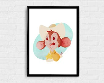 Mousekewitz West - American Tail Fievel digital art print