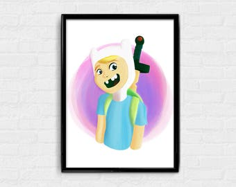 The Human - Adventure Time digital art character card