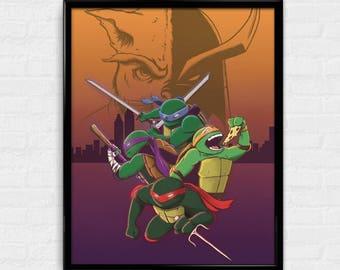 Half-Shell Heroes - TMNT inspired art print