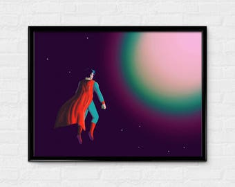 Solar Power - Superman inspired art print