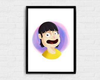 Gene - Bob's Burgers digital art character card