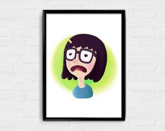 Tina - Bob's Burgers digital art character card