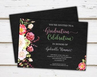 Graduation party invitations etsy printable graduation party invitation class of 2017 highschool graduate college graduate degree celebration commencement mb020 filmwisefo