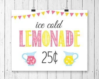 lemonade sign etsy