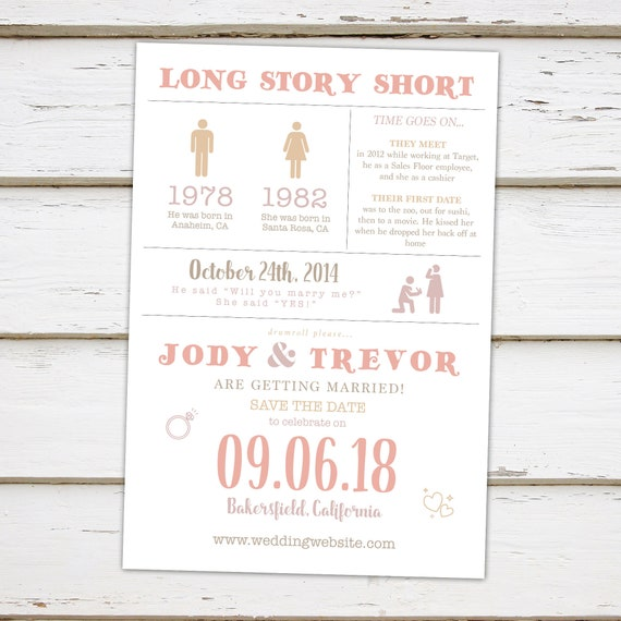 printable funny save the date card infographic save the date etsy
