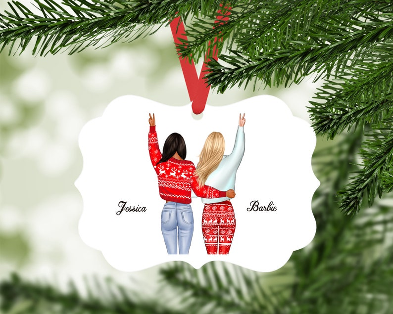 BFF Christmas Gift Personalized Best Friend Ornament Custom Gift Best Friends MB691 Gift for Besties Customized Gift for Her