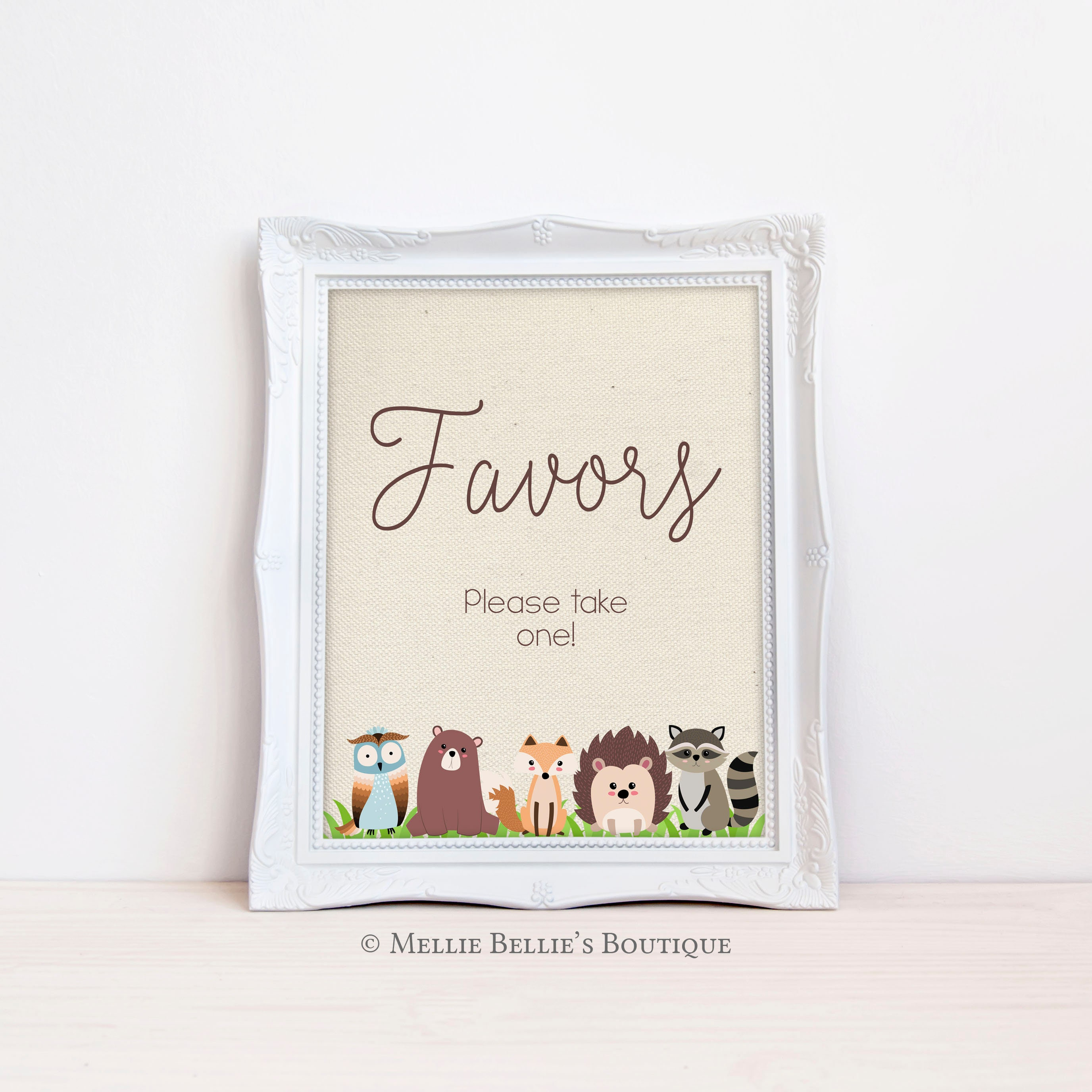 abdffef2e563 Printable Baby Shower Favors Sign