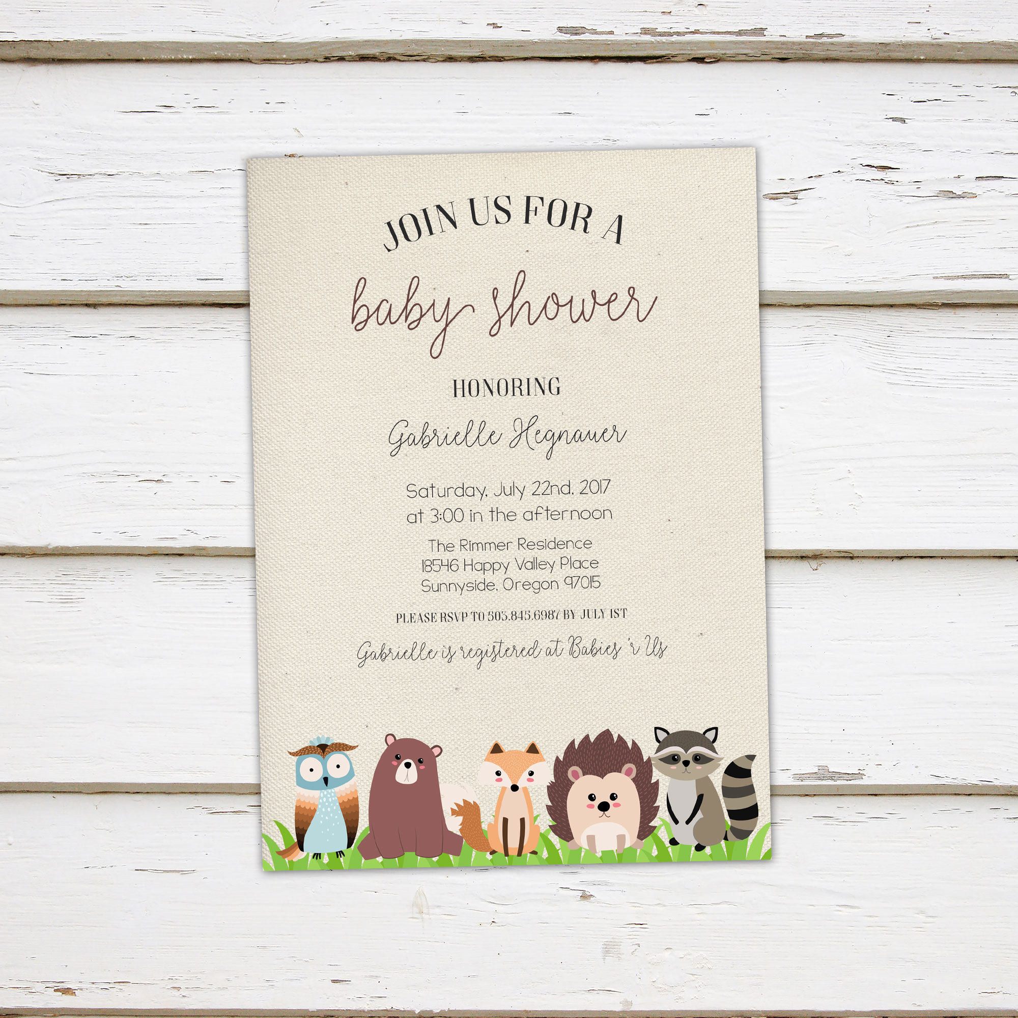 Printable woodland animal baby shower invitation forest baby printable woodland animal baby shower invitation forest baby animals raccoon bear fox wild hedgehog owl exotic mb200 filmwisefo