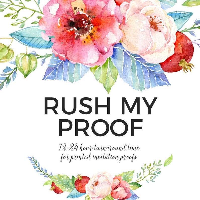 ADD ON // Rush Proof for Printed Invitation Orders image 0