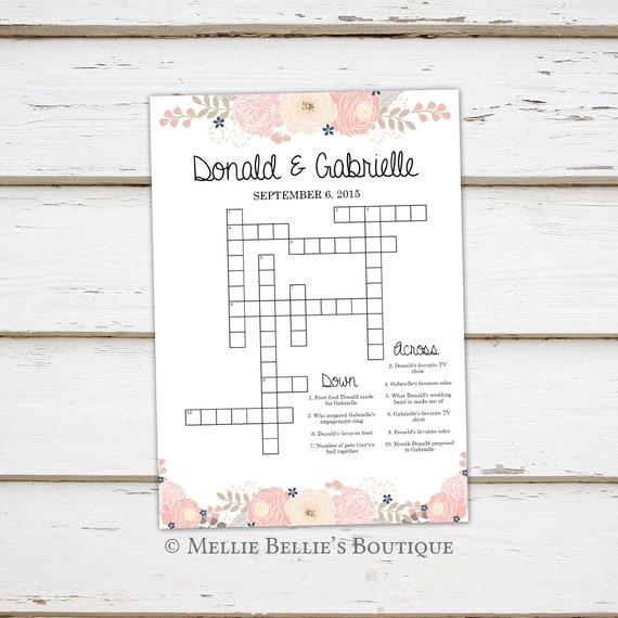 picture about Celebrity Crossword Printable identified as Printable Wedding day Crossword Puzzle Recreation, Video games for Wedding day