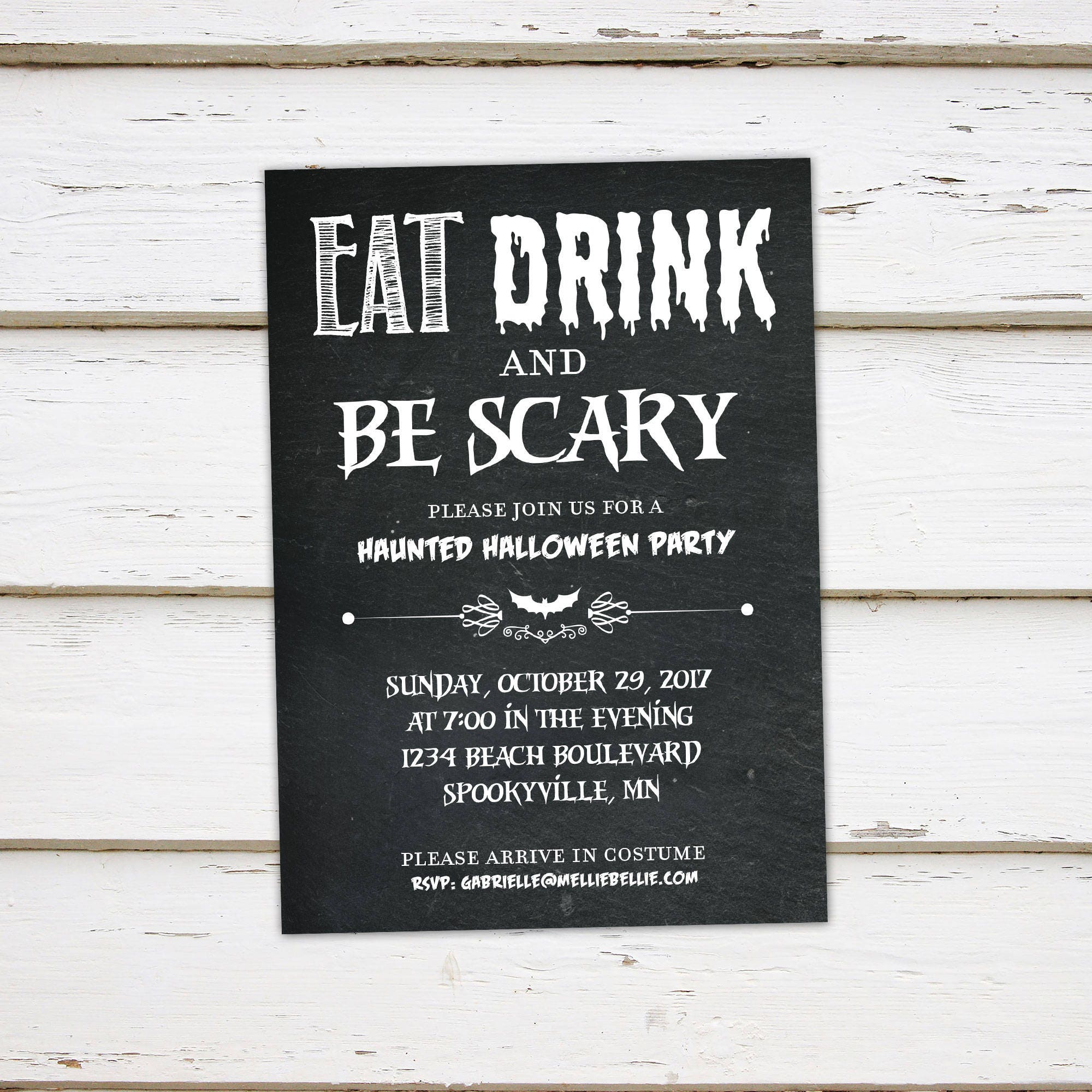 printable haunted halloween party invitation watercolor pumpkin burlap halloween poem rhyming spooky scary costume party mb019