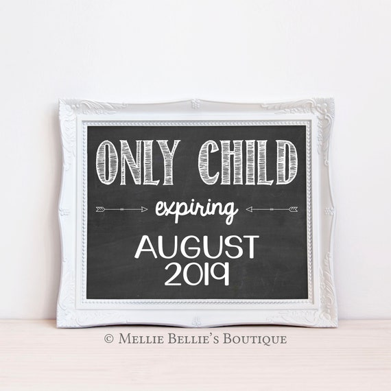 Printable Chalkboard Pregnancy Announcement Sign Only Child