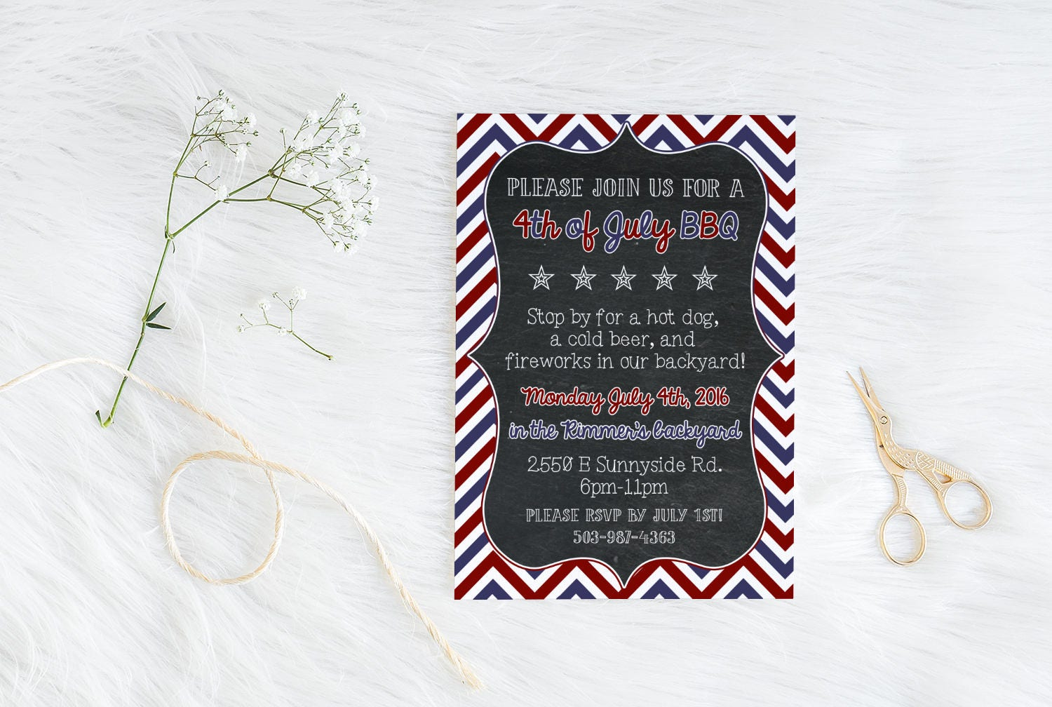 sam printable fourth of july invitation 4th of july barbecue