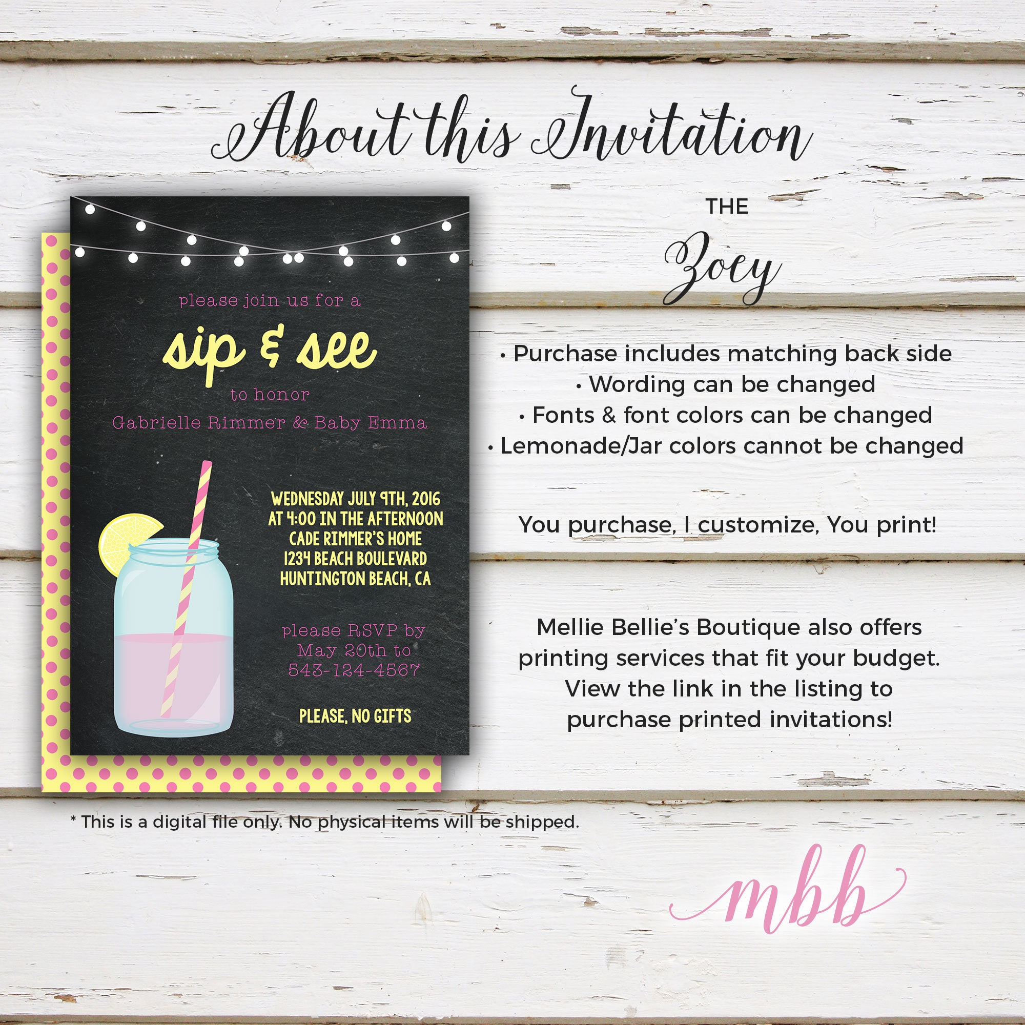 printable sip and see invitation gender reveal meet baby co ed