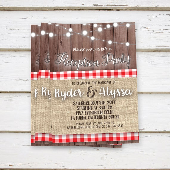PRINTED Reception Party Invitations Elopement We Eloped Already
