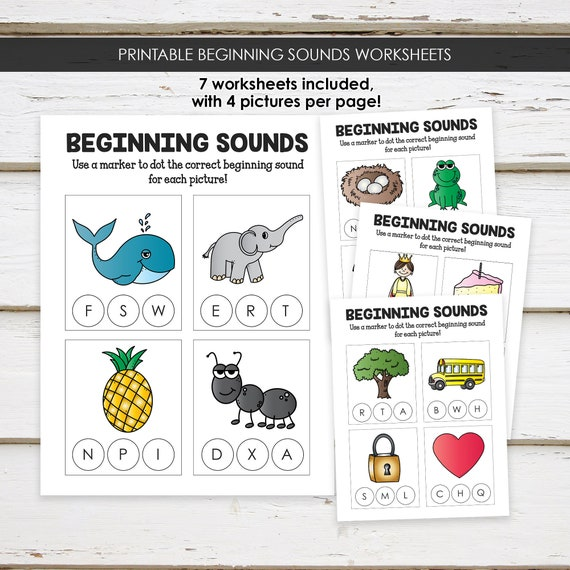 Printable Beginning Letter Sounds Worksheets, Preschool Worksheets, Letter  Sounds, Alphabet Sounds, Preschool Curriculum, MB111 By Mellie Bellie's  Boutique Catch My Party