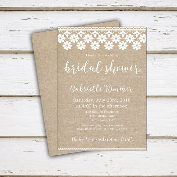 94a2ebe9d55 Printable Burlap Bridal Shower Invitation