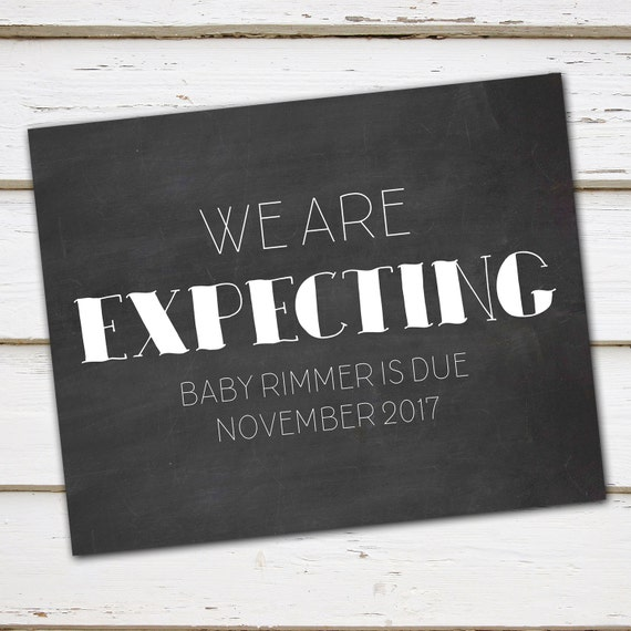 photo relating to Printable Pregnancy Announcements called Printable Being pregnant Announcement Chalkboard Indicator, Have been