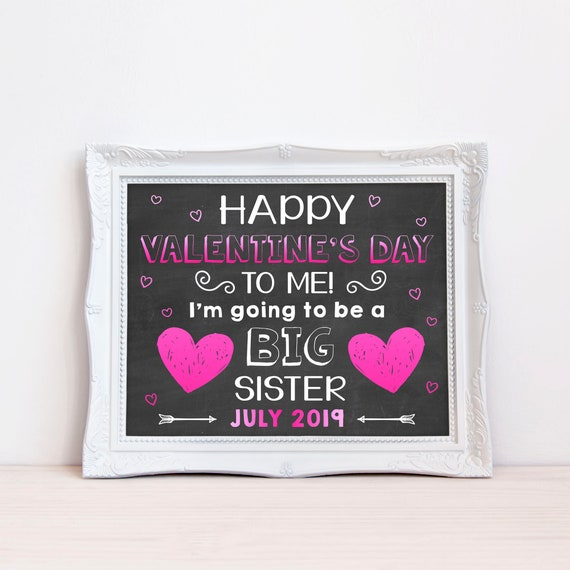 Happy Valentines Day Pregnancy Announcement Printable Sign