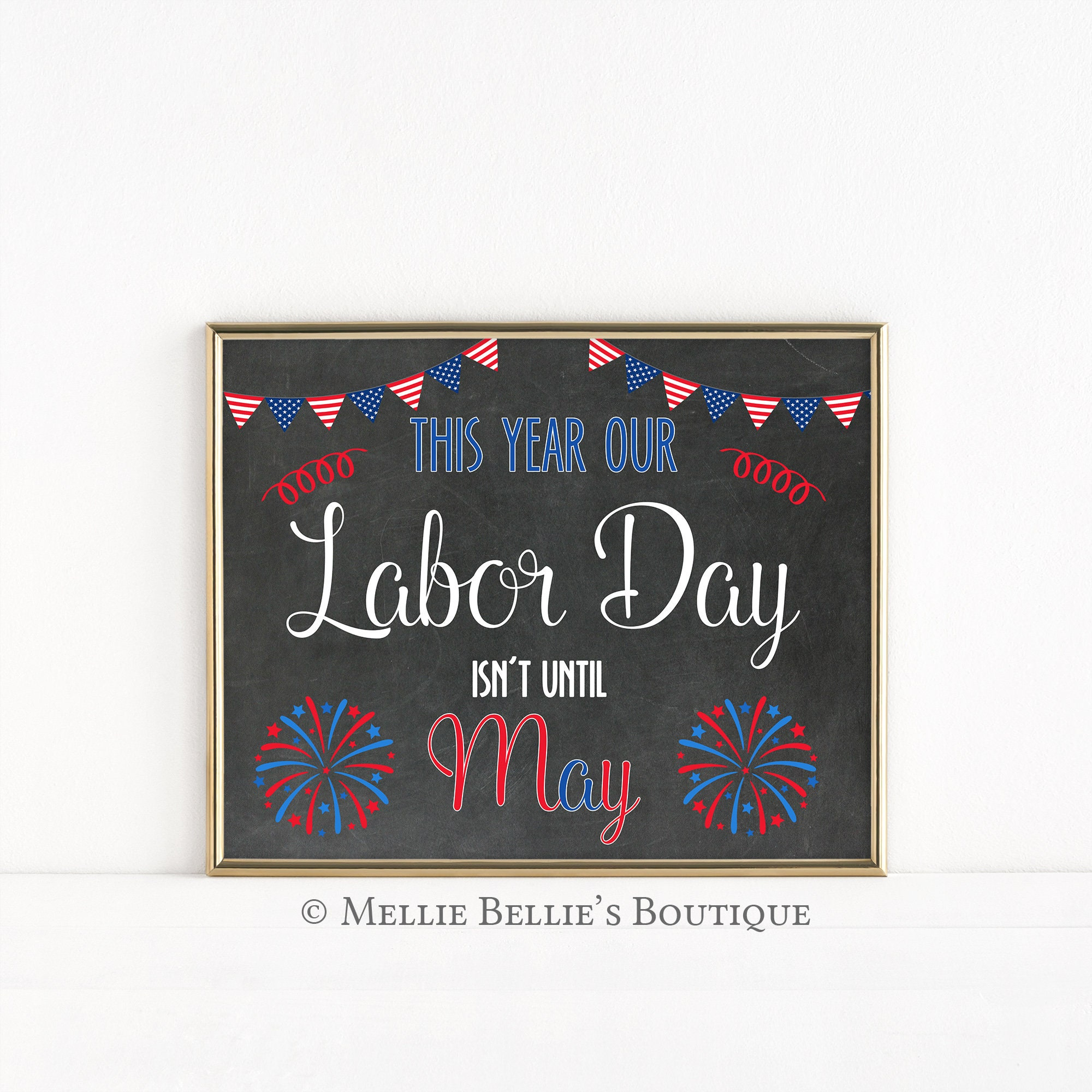 photograph regarding Closed Labor Day Printable Sign called Printable Chalkboard Being pregnant Announcement Signal, Our Labor