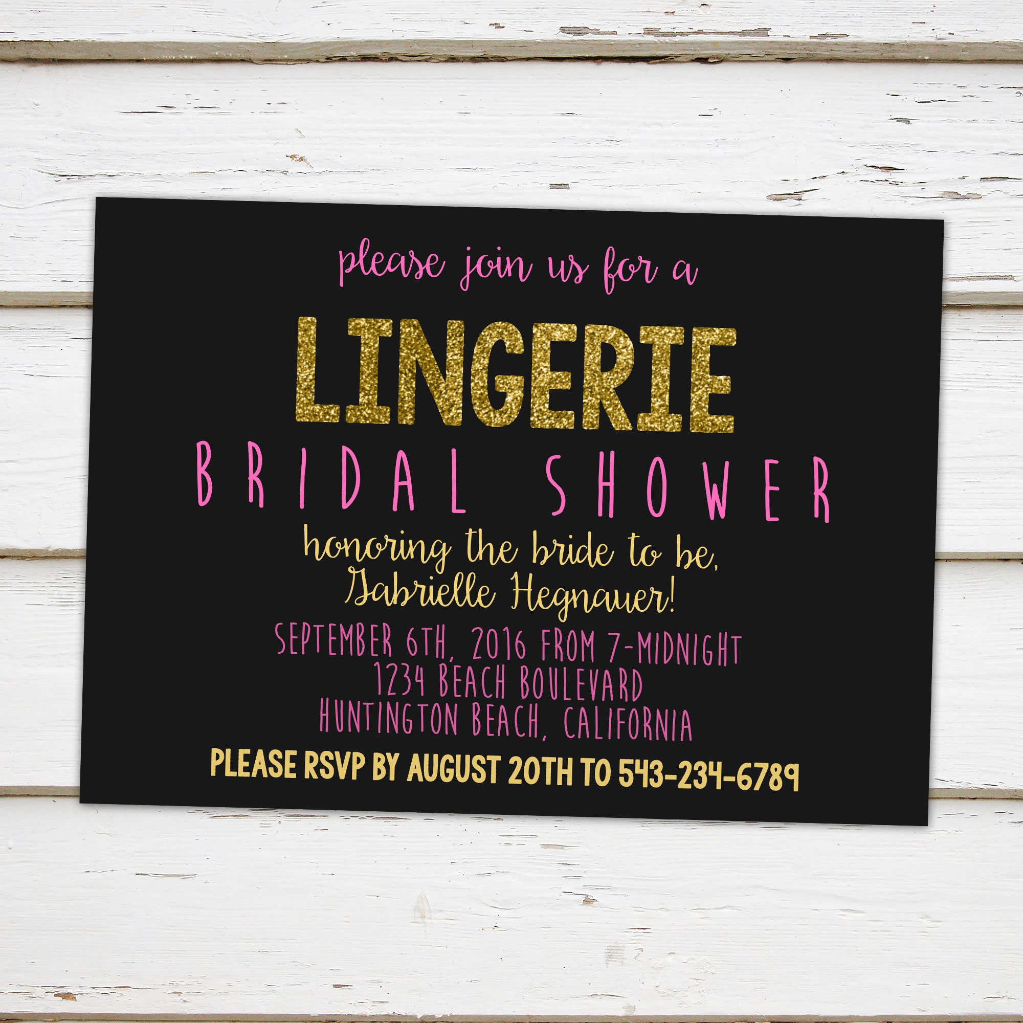 Printable glitter lingerie bridal shower invitation vegas black printable glitter lingerie bridal shower invitation vegas black pink gold bridal shower bachelorette booze drinks bar girls mb040 filmwisefo