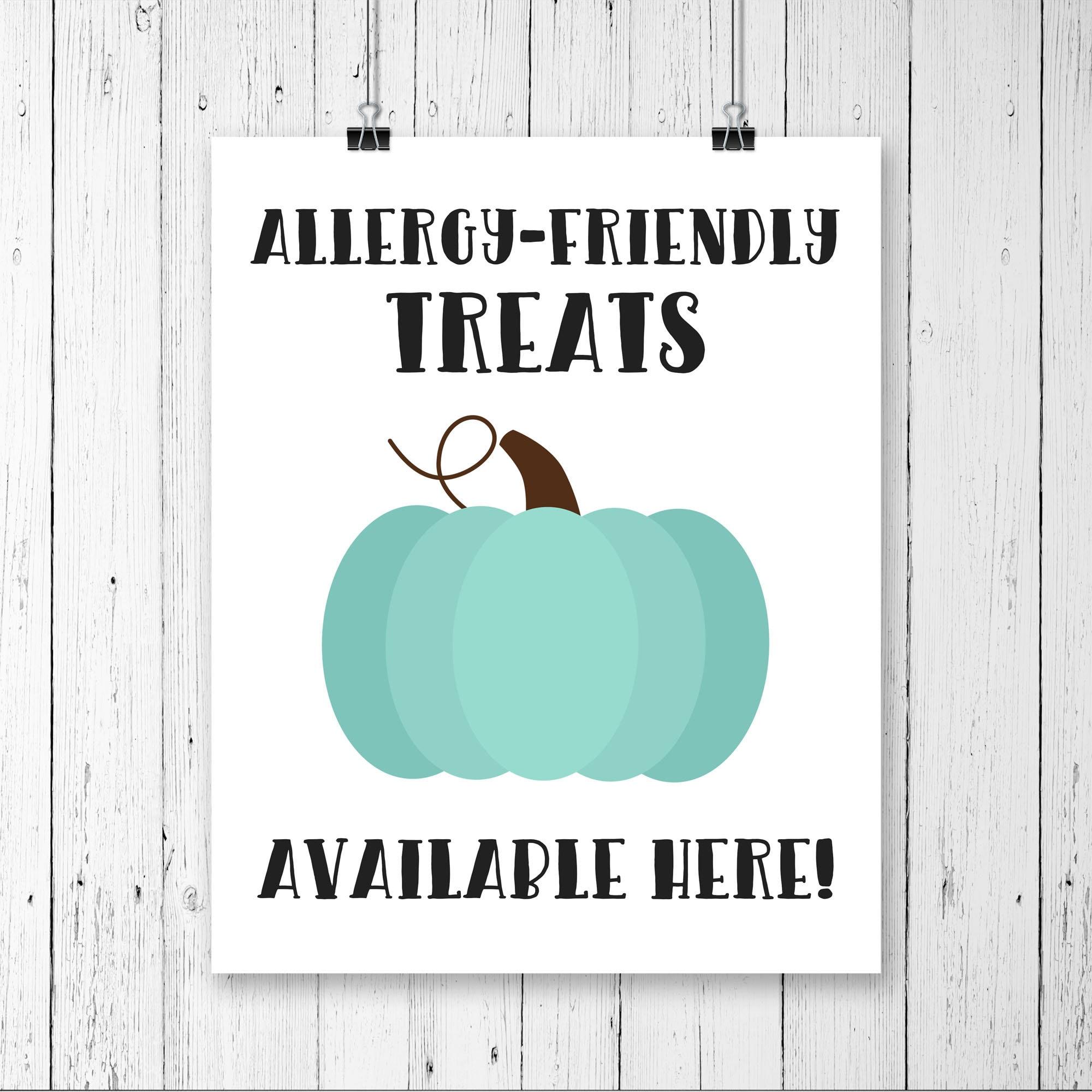 photo regarding Teal Pumpkin Printable named Printable Teal Pumpkin Indicator, Teal Pumpkin Undertaking, Allergy