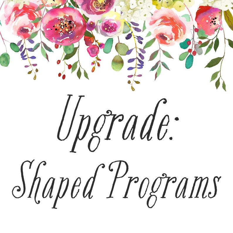 UPGRADE / Printed Programs / Die-Cut Shapes / Rounded Corners image 0