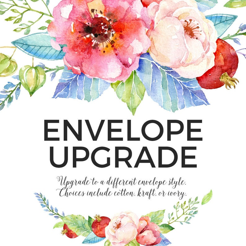 ADD ON // Envelope Upgrade for Printed Invitations image 0