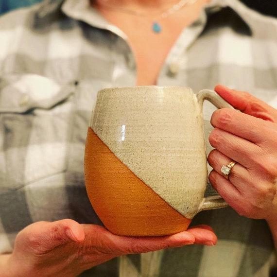 Northwest Mug in Speckled white on Red clay