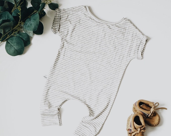 Featured listing image: Harem style romper, Grey and White Romper, Minimalist Clothing