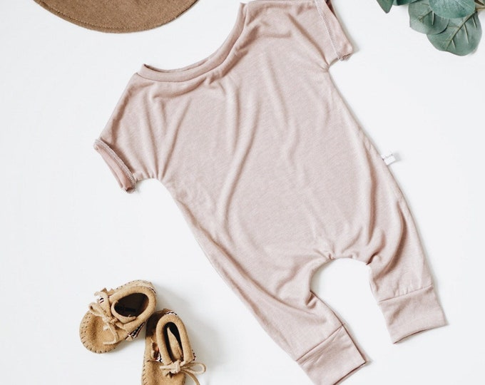 Featured listing image: Harem style romper, Blush Romper, Minimalist Clothing