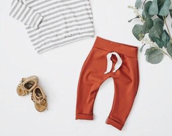 Baby Harem Pants, Rust   pants, Baby pants