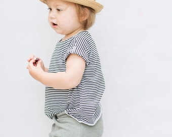 Baby Tee, Modern Baby Clothing, black and white Tee, Unisex tee