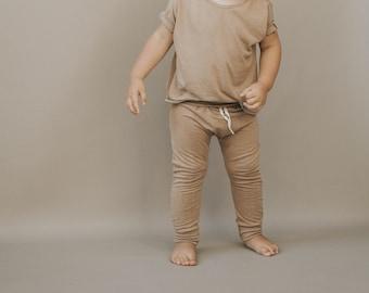 Baby Harem Pants,  Taupe pants, Baby pants
